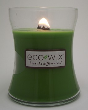 A fabulous, soul-stirring image of an Eco Wix candle just as it bursts into glorious flame.
